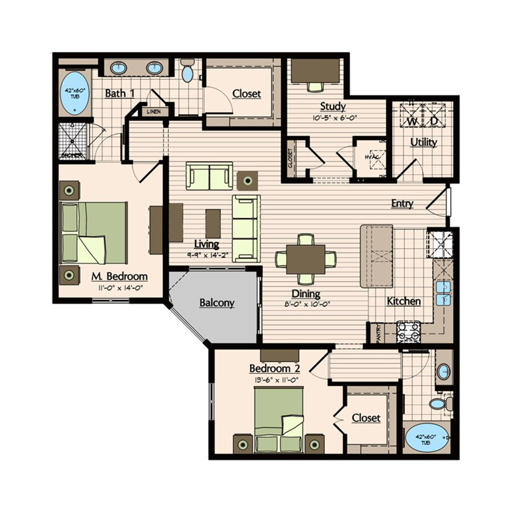 Floor Plans 1900 Yorktown Houston Uptown Apartments