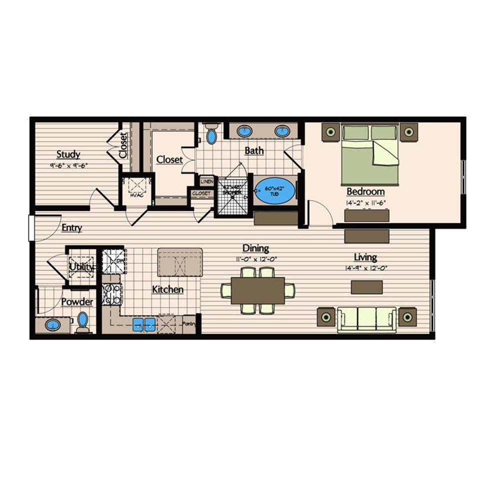Floor Plans 1900 Yorktown Houston Galleria Apartments